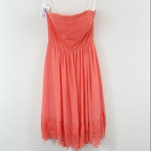 B2 Jasmine NWT Grapefruit Orange Bridal Dress 8